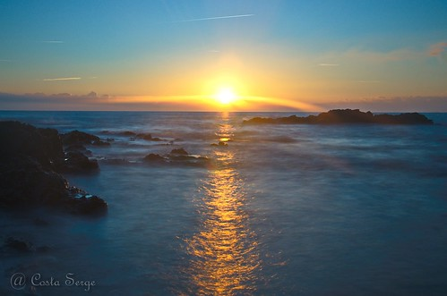 leverdesoleil sunrise mer sea waterscape seascape soleil sun méditerranée mediterranean poselongue longexposure