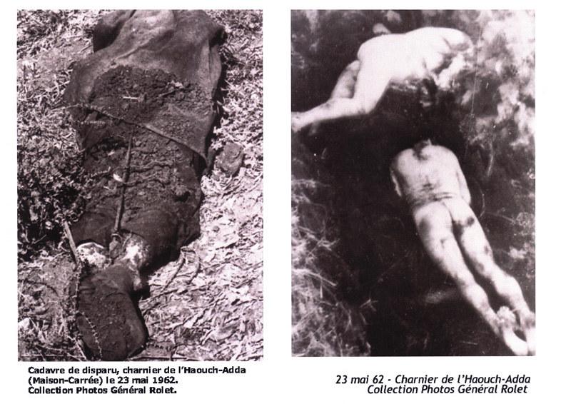 Cadavres d'Européens enlevés à Alger, après le 19 mars 1962