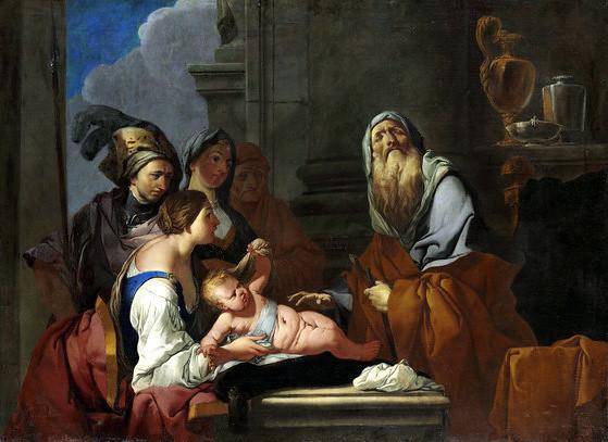Giulio Carpioni, Der blinde Seher Tiresias und der kleine Narzissus / The blind  seer Tiresias and Baby Narzissus