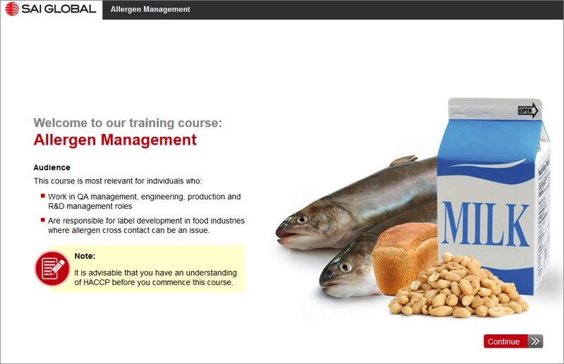 Online Allergen Management Course Preview