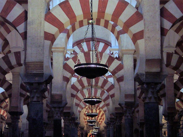 Arches and symmetry in the Mezquita - Cordoba