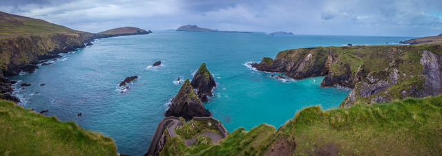 Panorama Image of Dunquin Pier Co. Kerry
