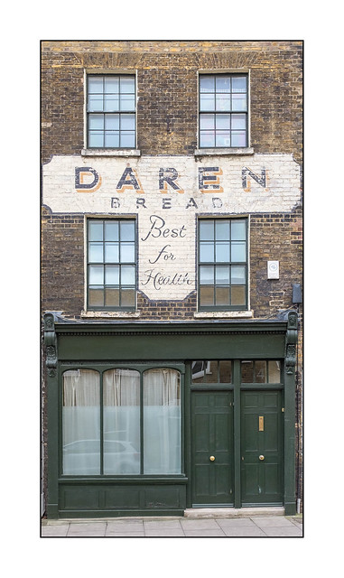 Ghost Signage, East London, England.