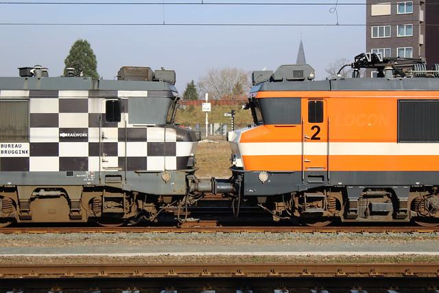 Ex HSL 1832 + RRL 1829 te Amersfoort 18 februari 2018