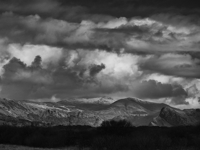 Moody skies over Cadair Idris and the Dysynni valley ...