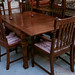 Dutch oak dining table E295 with 6 chairs