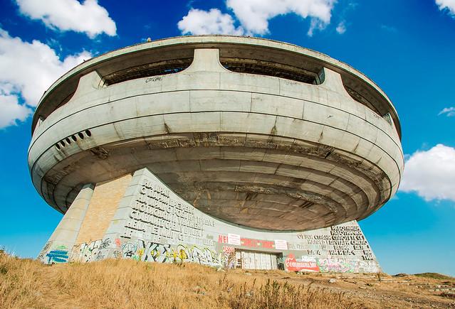 Buzludzha - soviet building in Bulgaria