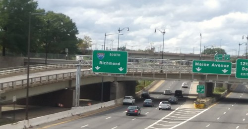 I-695 in DC looking west from 4th Street SW