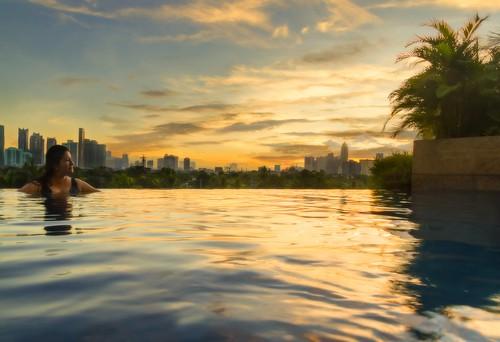 infinitypool sunrise hotel travel pool discoveryprimea awesome beautifuldestinations philippines itsmorefuninthephilippines makati manila