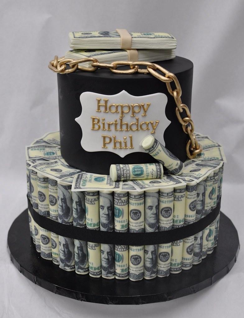 Money roll birthday cake | Jenny Wenny | Flickr