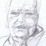Mame Bleistift auf Papier 40x50