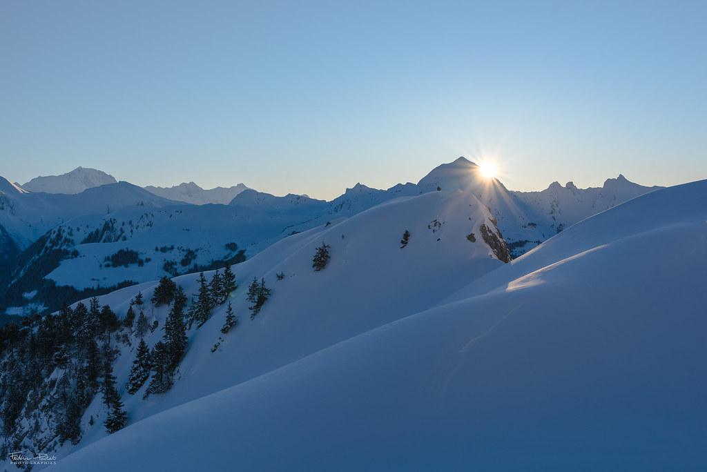 Lever de soleil sur le Mont Charvin