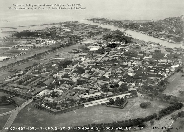Intramuros looking northwest, Manila, Philippines, Feb. 20, 1934