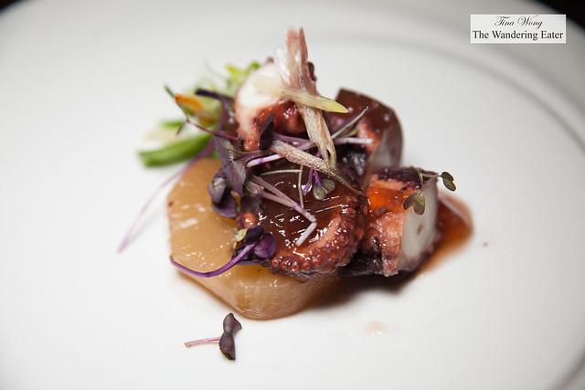 Slow poached Hokkaido octopus