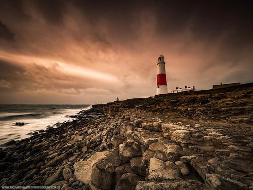 clouds dorset landscape nature longexposure lighthouse portlandbill sea coast