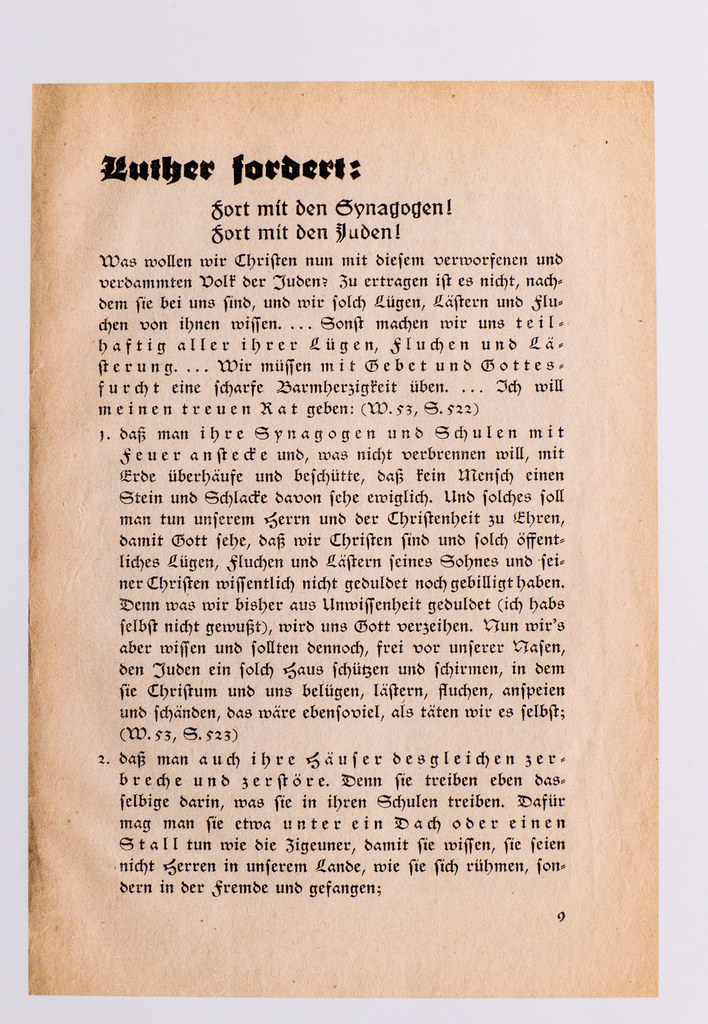 Luther über Die Juden