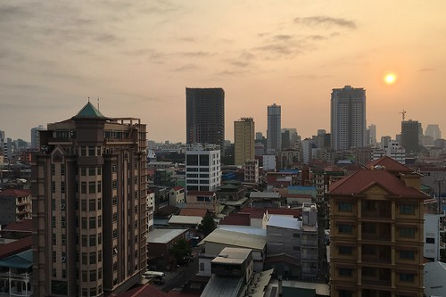 city skyline skyscraper sky building phnompenh cambodia khmer construction weather weatherproject sunrise