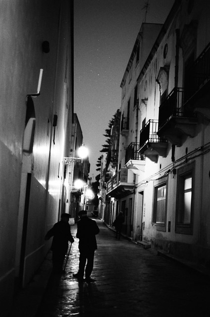 Street at night (35mm film)