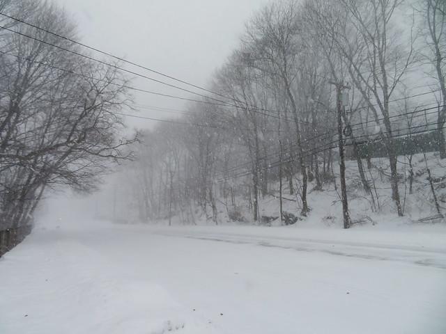 Prospect St during Bombogenesis; Wakefield, Massachusetts (2018)