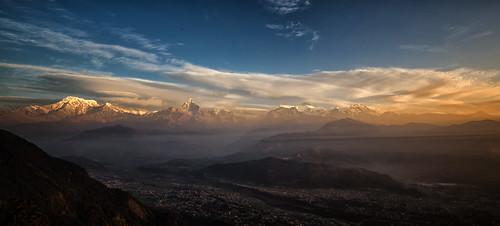 annapurnas himalayas nepal pokhara sarangkot sunrise westerndevelopmentregion