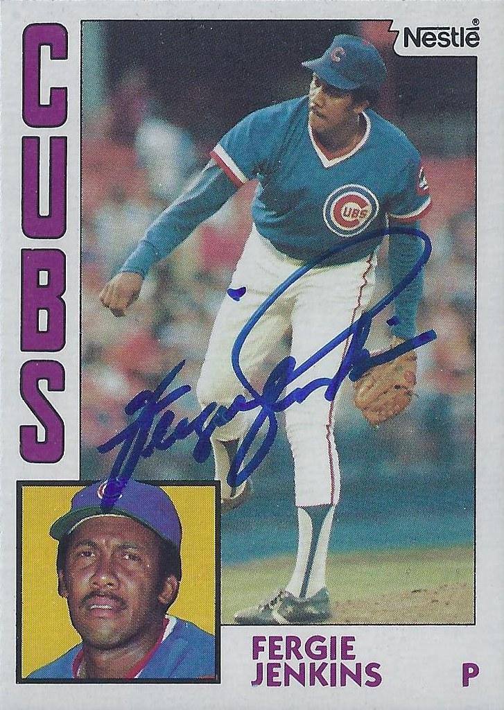 1984 Nestle Ferguson Fergie Jenkins 483 Pitcher Ba