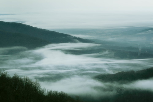 appalachian shenandoah landscape virginia scenic skylinedrive fog buckhollowoverlook nationalpark mountains