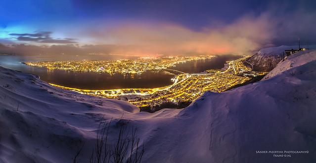 Winter storm; Tromsø Panorama