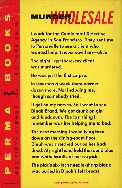Perma Books M-3043 - Dashiell Hammett - Red Harvest (back)