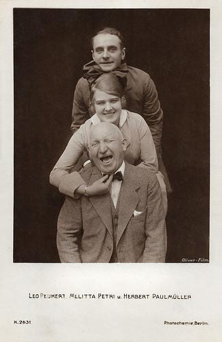 Leo Peukert, Melitta Petri, Herbert Paulmüller in Wer niemals einen Rausch gehabt (1918)