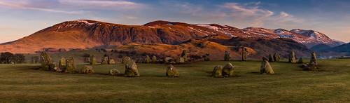 castlerigg castleriggstonecircle stonecircle lakedistrict keswick cumbria sunset evening winter