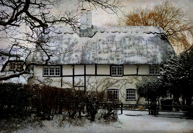 Rye Hill cottage in the snow