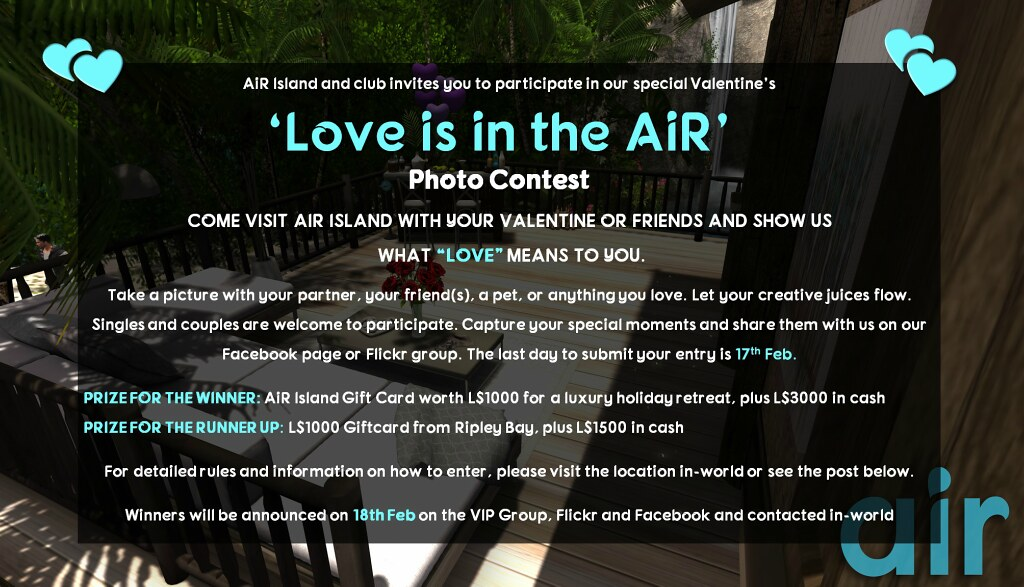Love is in the AiR' -AiR Island Valentine's Photo Contest