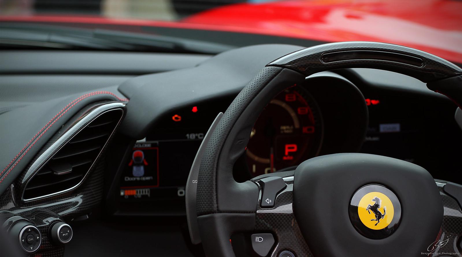 Ferrari F488 Spider Interior