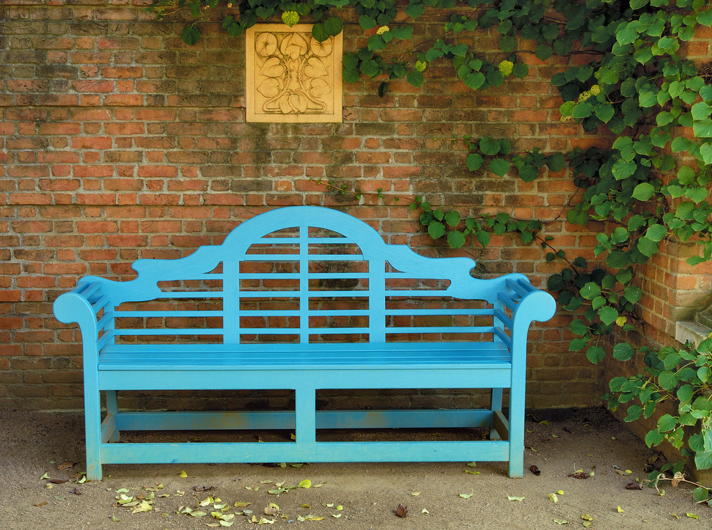 Superb Blue Bench Quiet Alcove English Walled Garden Chicago Bo Forskolin Free Trial Chair Design Images Forskolin Free Trialorg