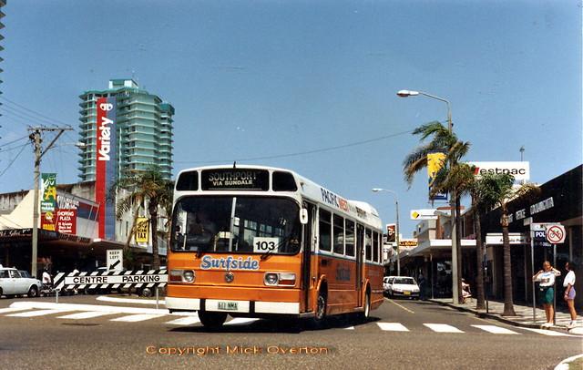 Coolangatta - 1978 Leyland National Surfside 611NMA - almost the longest serving PSV National in Australia