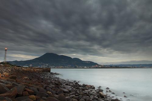 夕陽 雲 燈塔 觀音山 油車口 沙崙 淡水 新北市 台灣 taiwan sunset clouds lighthouse