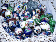 Hungarian painted eggs