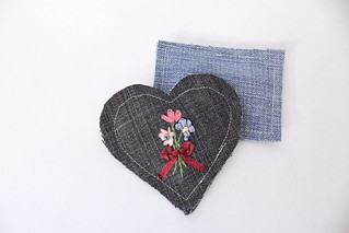 Embroidered Heart Sachets | by smithsoccasional