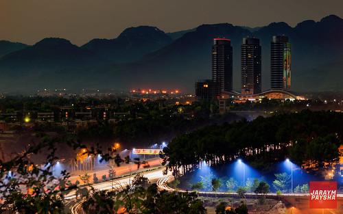 islamabad pakistan skyline nightscape night cityscape skyscraper dusk tower lights trails canon 6d
