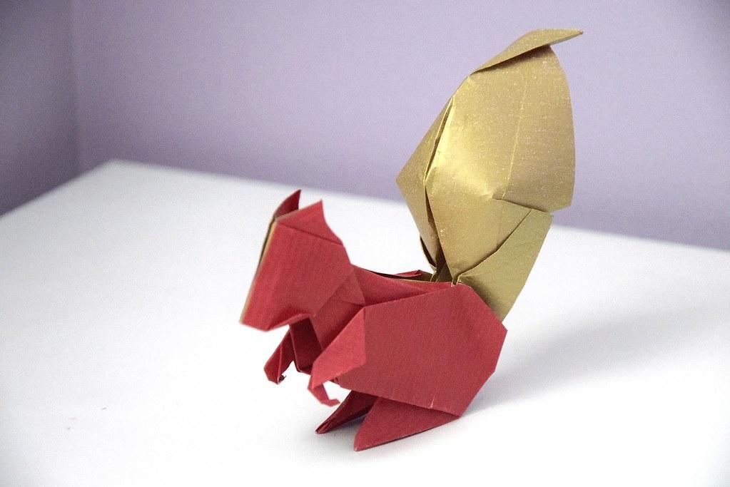 Origami Squirrel - Jo Nakashima   683x1023