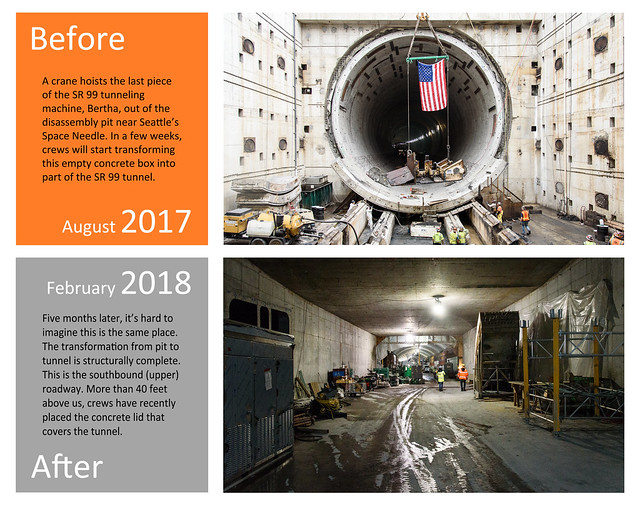 Before and after: Transforming Bertha's disassembly pit
