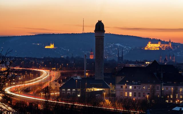 Sunset in Würzburg