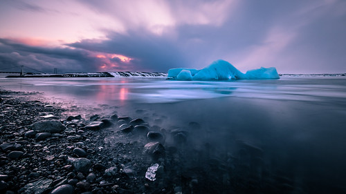 photo landscape sunset nature outdoor clouds longexposure iceland travel sea photography iceberg sky seascape rocks europe geotagged ice easternregion is onsale