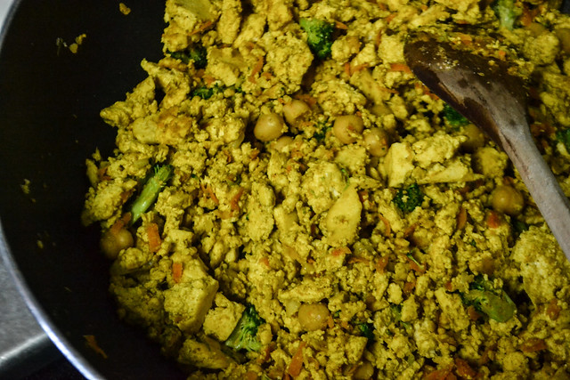 Making Tofu Scramble (Vegan)