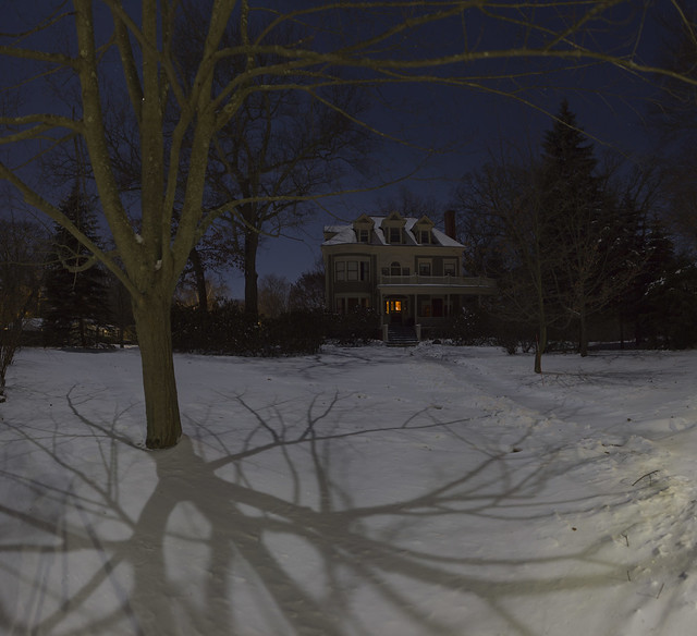 22 parker under a full moon in winter; Wakefield, Massachusetts (2018)