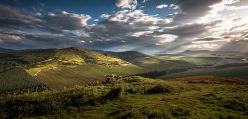 insch dunnydeer scotland aberdeenshire garioch sunset alba