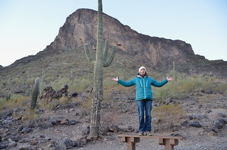 Picacho Peak Linda waiting for sunrise | by Pierre Yeremian