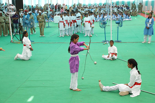 Physical act by Sewa Dal Volunteers