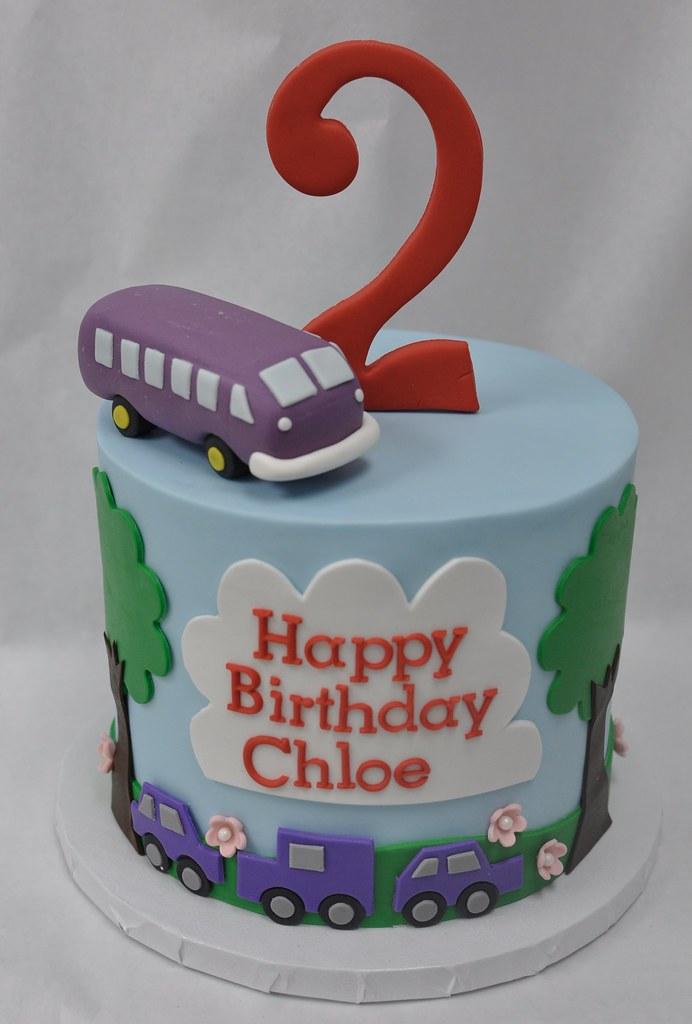 Magnificent Purple Bus Birthday Cake Jenny Wenny Flickr Funny Birthday Cards Online Barepcheapnameinfo