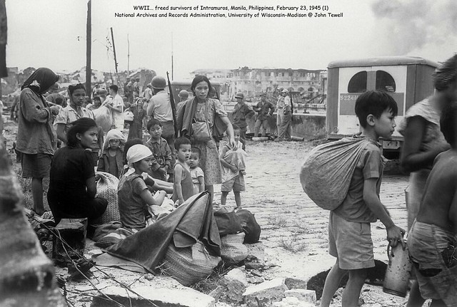 WWII… freed survivors of Intramuros, Manila, Philippines, February 23, 1945 (2)